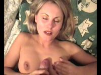 Experienced looking blonde Milf fingered and boned