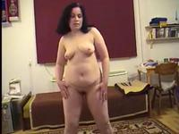 Chubby Wife Dancing And Strip