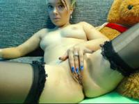 Teen getting ready in front of a webcam
