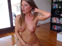 A babe in pink teases on cam