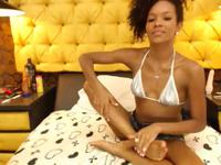 Ebony chick is playing with herself