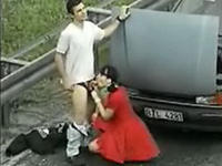 Extreme fucking on highway in public!