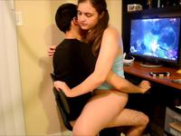 Teen couple is having sex