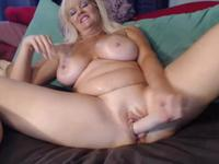 Milf is playing with herself