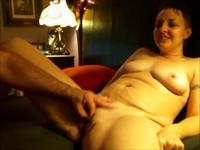 Mature woman is getting touched