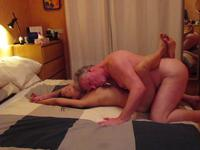 A mature woman is fucked