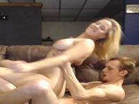 Chick is riding some hard dick