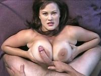 Milf gets cum on her tits
