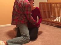 Blowjob and sex on the floor