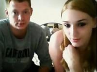 Teen couple has wild sex in front of their webcam