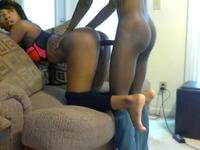 Ebony beauty sucks cock and gets fucked