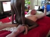Grandpa fucks black bitch