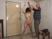 Helpless darling spanked real hard