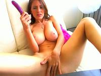 Stunning busty solo webcam model