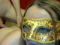 So pretty blonde masked wife fun in her webcam and make awezone sex video