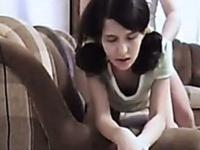 Brunette with pigtails is fucked silly