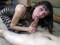 Slim slut takes care of my cock