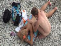 Super hot blonde nude on the beach