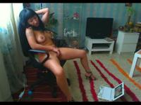 So pretty brunette masturbing with a dildo while watch her computer,!holy fuck!