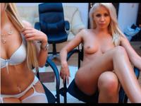 2 gorgeous blonde webcam princesses