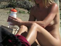 Cute blonde GF on the beach