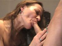 Mommy gagging on his hard pecker