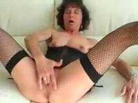 Lingerie-clad granny is still kinky