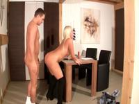 Auditioning blonde used up and fucked