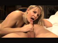 Homemade German blowjob with a blonde